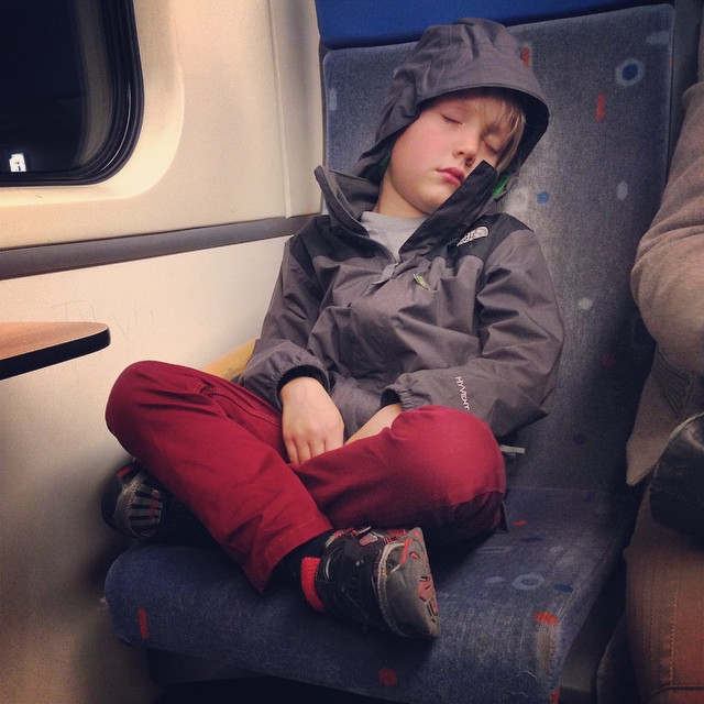 I know I ask a lot of the kids when we travel. But hopefully in return there is a lot of adventure, a lot of exploring, and a lot of fun too. Tonight Gage fell deep asleep riding the train back into the countryside. He even unconsciously leaned into (and