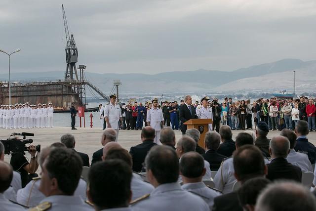 Τελετή καθέλκυσης Υποβρυχίου «ΠΙΠΙΝΟΣ», Ελληνικά Ναυπηγεία 06 Οκτωβρίου 2014