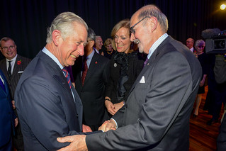 His Royal Highness Prince Charles with Peter Herrndorf