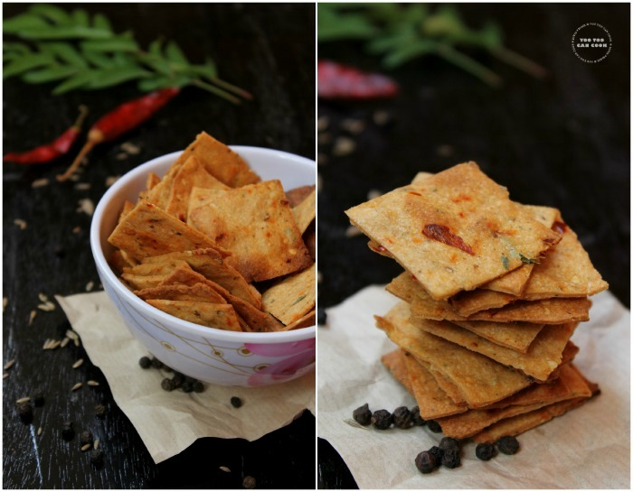 Indian wheat crackers 1