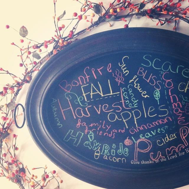 Fall #subwayart on our #marymarthahome chalkboard. #fall #autumn #maryandmartha