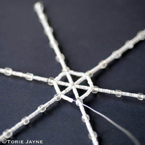Beaded spiderweb tutorial