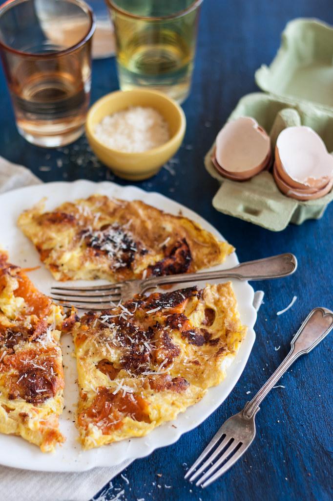 Pumpkin omelette