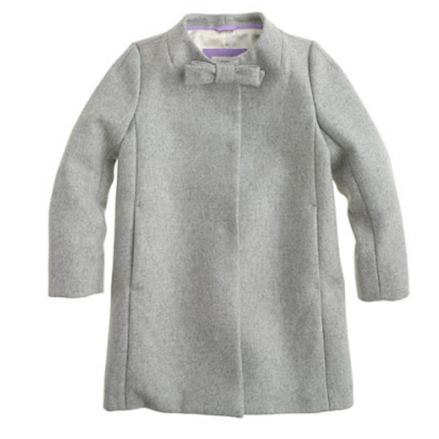Crewcuts Wool Melton Bow Coat