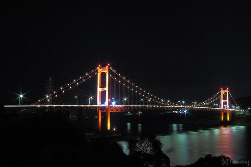 Hirado Bridge at night