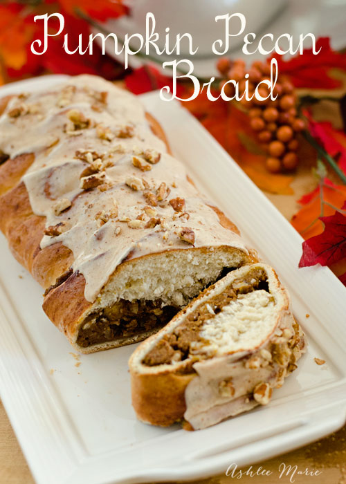 pumpkin and pecan go so well together, and they go great in this braid