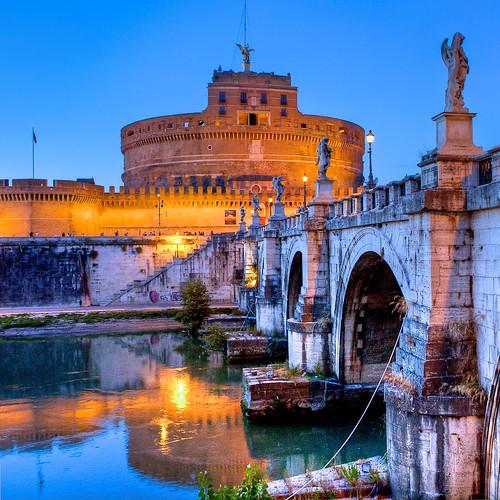 city italy rome canon geotagged evening angelo geotag sant hdr castel castelsantangelo photomatix 40d canon40d