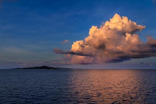 sunset beautiful clouds interesting honduras roatan canon7d