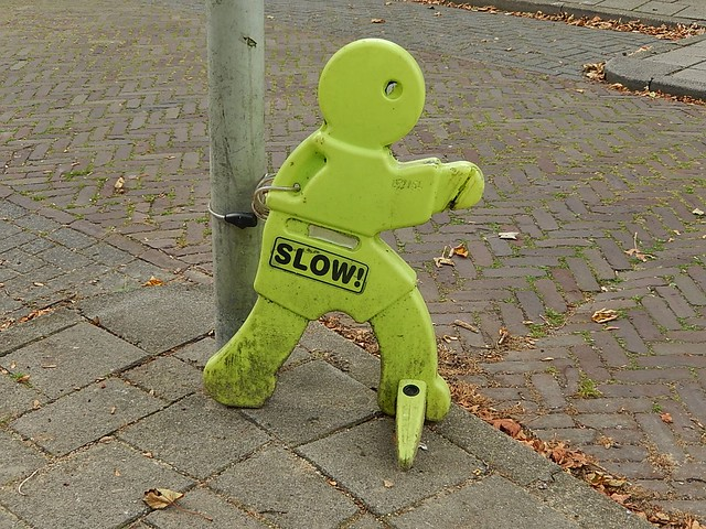 Header of slow man