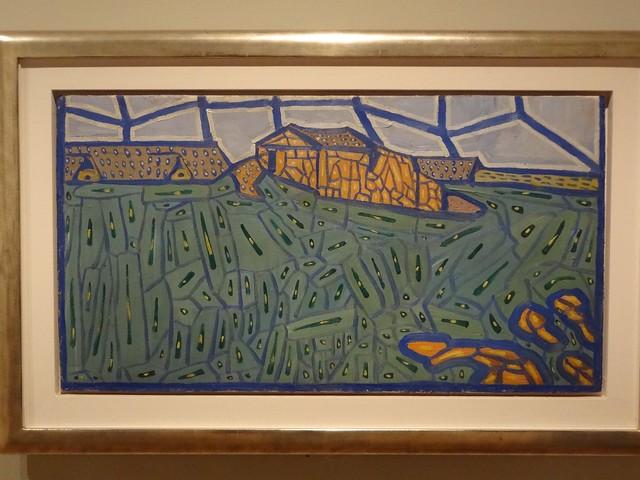 Landscape, by Vladimir Burliuk. (1913).