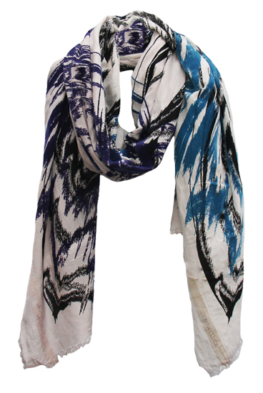 Abstract Chantarelle Rectangle Scarf