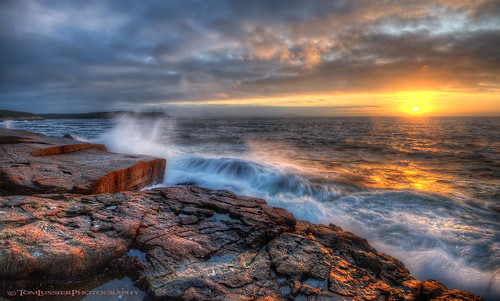 ocean sunrise maine acadianationalpark tomlussierphotography