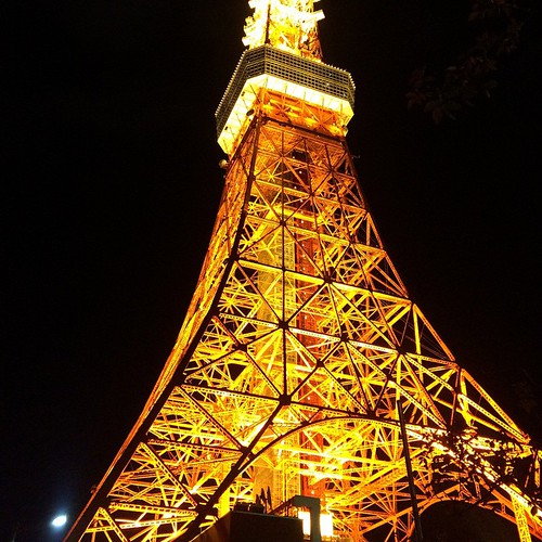 東京タワー。 美しい。 #無加工  見とれてたら、道間違えてたってオチ。