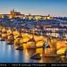 Czech Republic - Prague - Prague Castle & Charles Bridge at Dusk - Twilight - Blue Hour - Night by © Lucie Debelkova / www.luciedebelkova.com