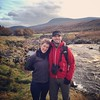 On the river Helmsdale! Loooooooooooove the Scottish terrain.