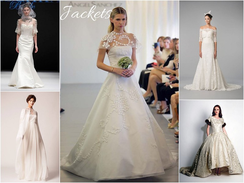 Fall 2015 bridal week trends - Jackets