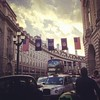 NFL... American flags... in London. I'm so confused right now! #playingtourist #london #random #whatthe