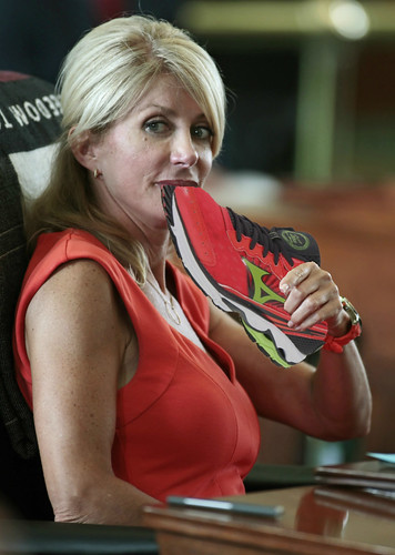 Wendy Davis and Her Pink Shoes