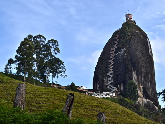 Climbing to the Top of Piedra del Peñol, Colombia