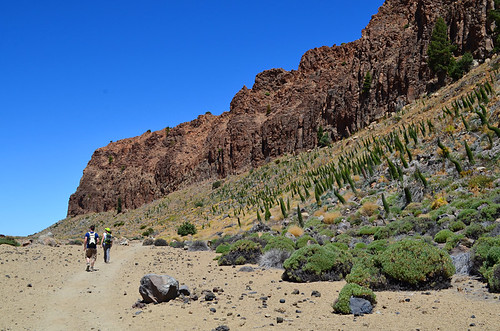 Walking beneath La Fortaleza, Teide National Park, Tenerife