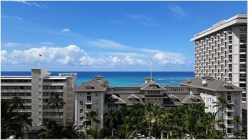 001_風光明媚的夏威夷威基基海灘飯店群