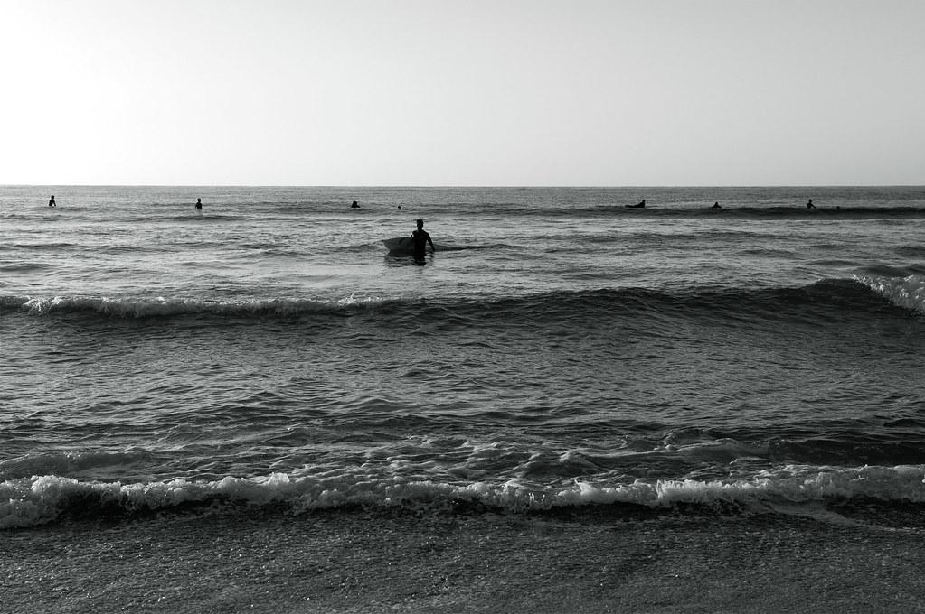 a surfer|夕日が浦海岸