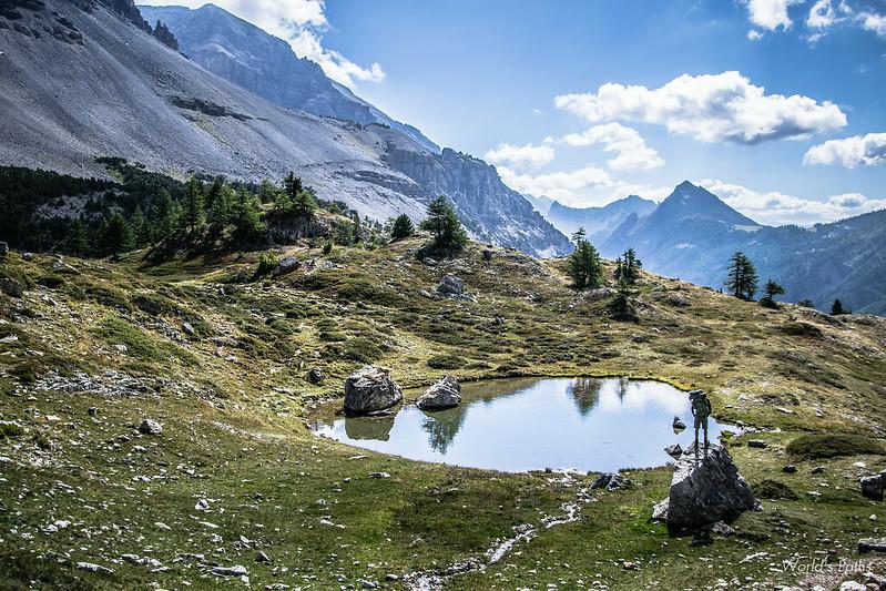 Valle stretta, lago dei girini Thabor