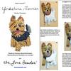 PDF: YORKIE Tutorial de bordado con cuentas del prendedor o pendiente de perro - Yorkshire Terrier