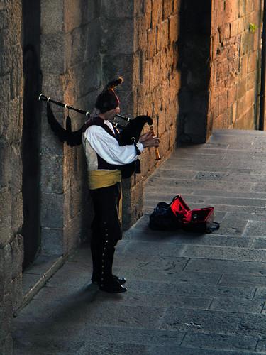 Celtic Musician Santiago de Compostela, Spain