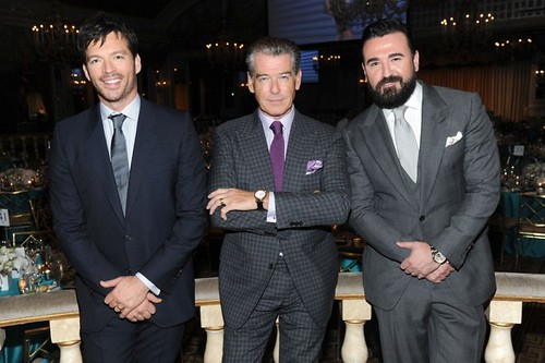 Harry Connick Jr., Pierce Brosnan, Chris Salgardo==.Ovarian Cancer Research Fund's 20th Anniversary Legends Gala, Hosted by Harry Connick Jr.==.The Pierre Hotel, NY==.November 5, 2014==.©Patrick McMullan==.Photo - Owen Hoffmann/patrickmcmullan.c