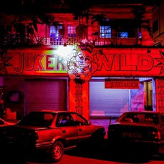 """""""There is a very easy way to return from a casino with a small fortune: go there with a large one."""" . - Jack Yelton  . Jokers Wild Casino. I love the logo. #weownthenight_nairobi   #igkenya #cityofnairobi #cityscapes #exklusive_shot #rising_masters #i"""