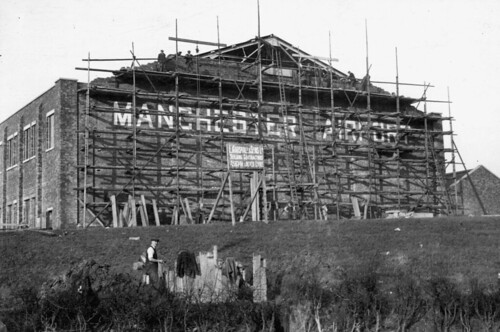 Aviation, Barton Airport, under construction, Manchester 1929