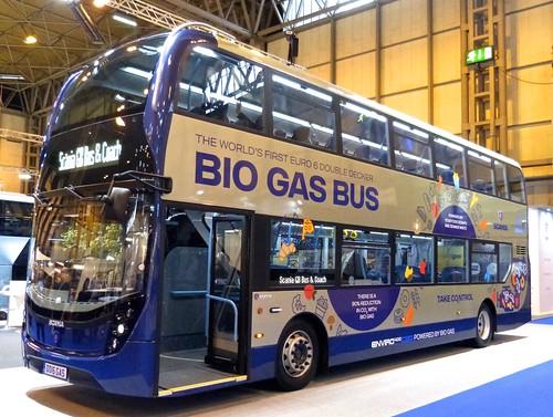 Alexander Dennis Ltd. Enviro400 BIOGAS on 'Dennis Basford's roadsrailsrunways.blogspot.co.uk'