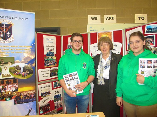 Anne McCourt SSL with two of her youth leaders at the 2016 Living Church Convention, Belfast