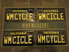 Whymcycle auto tags/plates