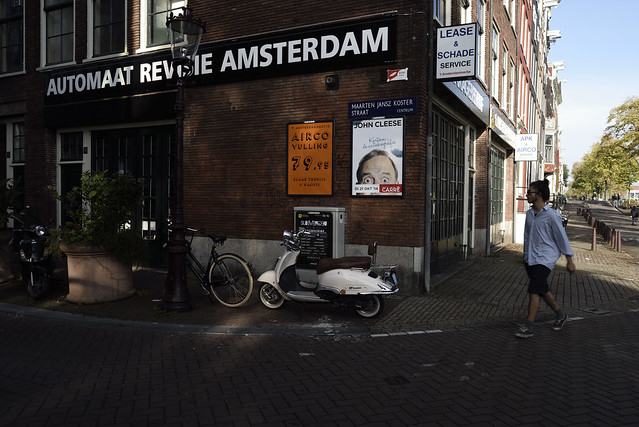 at a corner of Amsterdam