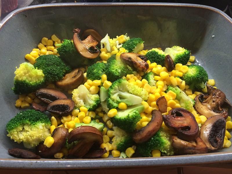 Chicken and Mushroom Pie : Add the mushrooms
