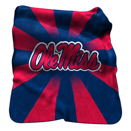 Ole Miss Rebels NCAA Raschel Blanket
