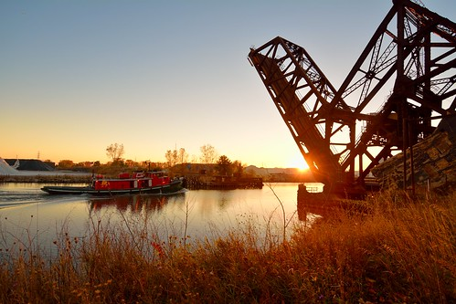 bridge industry river rouge track ns detroit rail double tug