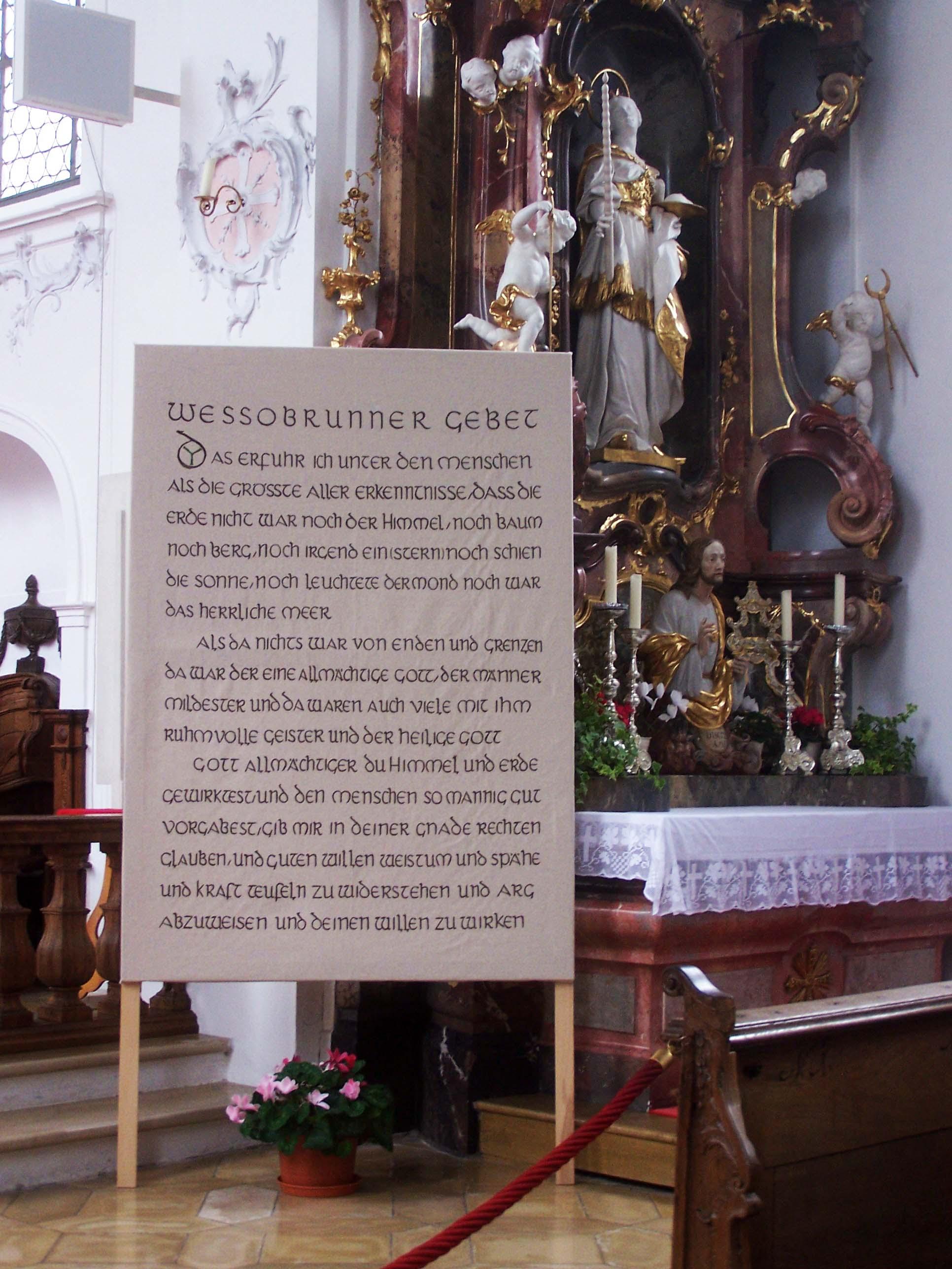 Klosterkirche Wessobrunn, Gebet