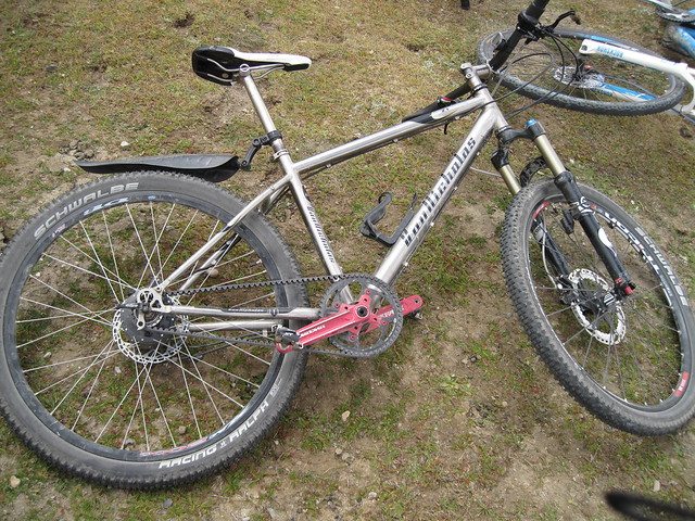 Ian's titanium hub gear bike, awesome!