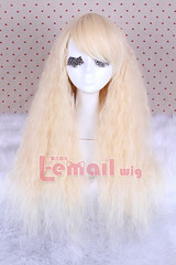 70cm long Rhapsody in beige fade curly cosplay hair wig ZY30