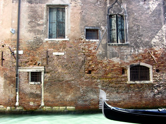 Lovely Old Wall in Venice