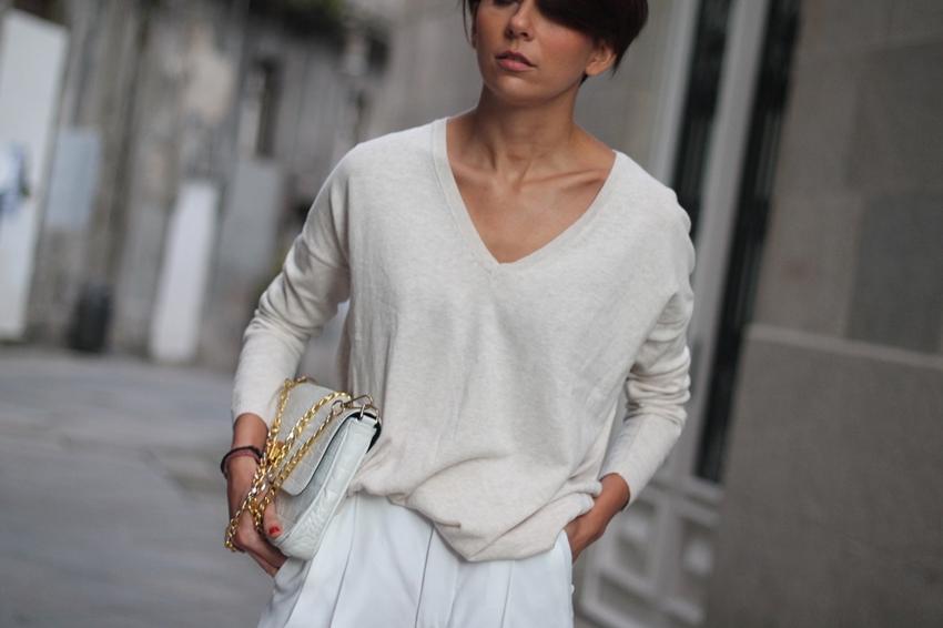 pantalon blanco zara
