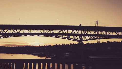 The I-5 bridge from the University Bridge, Seattle
