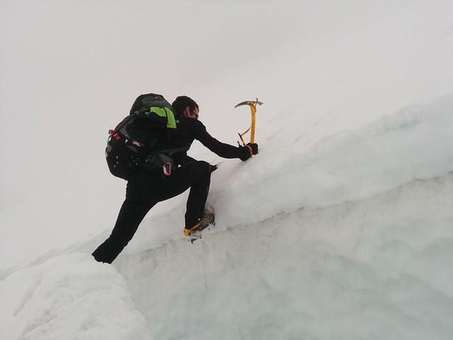 Prüfen der Gletscherspalte