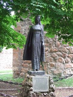Estatua de la princesa Kristina de Noruega.
