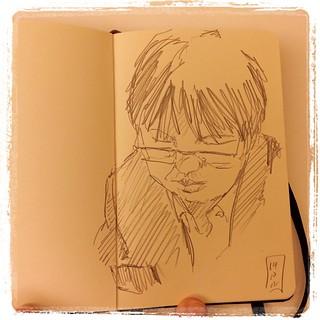 #japon #tokyo #urbansketch #portraits #pentel #kerry #moleskine