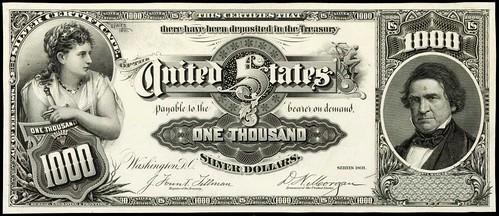 1891 $1000 Silver Certificate