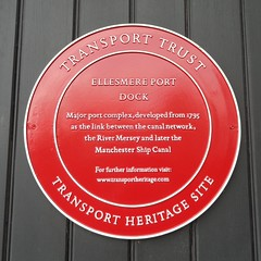Photo of Ellesmere Port Dock red plaque